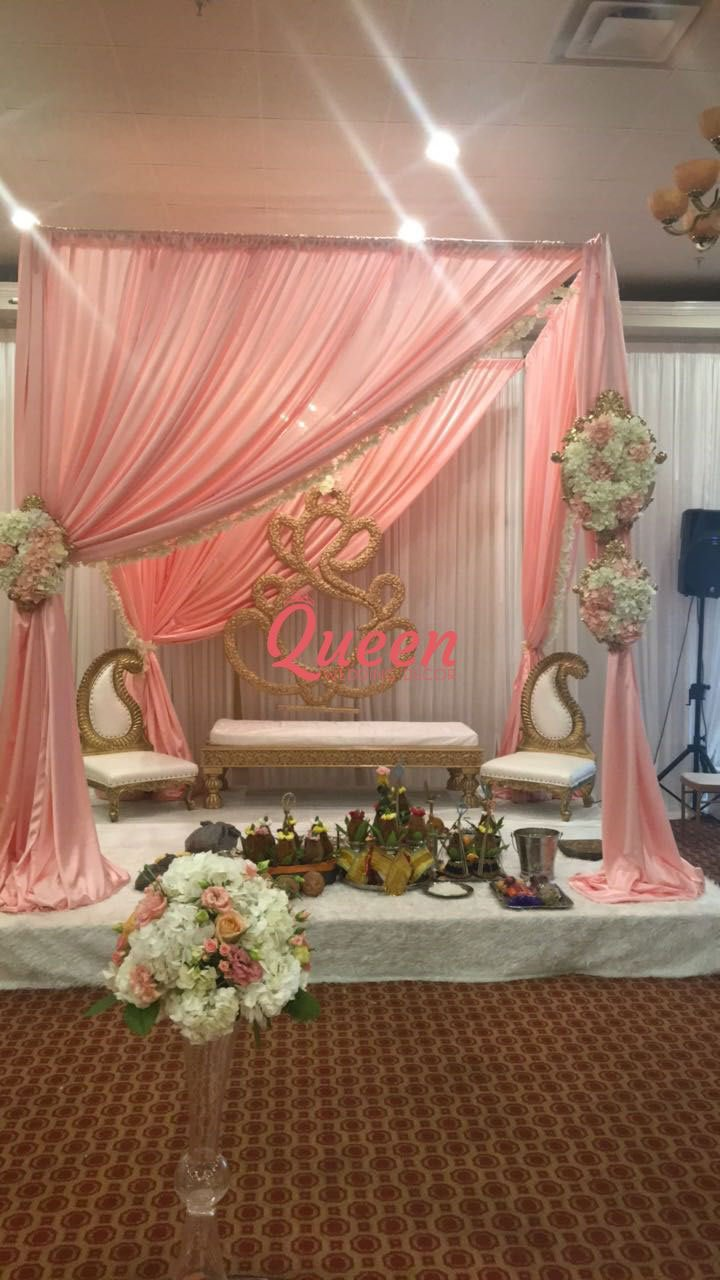 Reception decor backdrop queen wedding decor for Backdrops wedding decoration