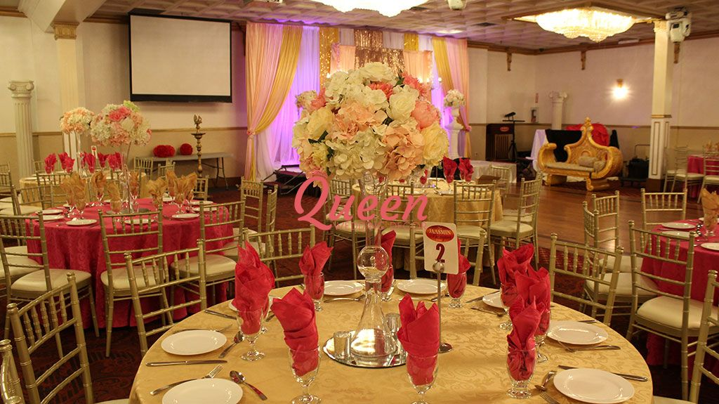 New jaasmin banquet hall queen wedding decor if your wedding or party event will be held in new jaasmin banquet hall and you are looking for decoration contact us for an appointment the consultation junglespirit Images