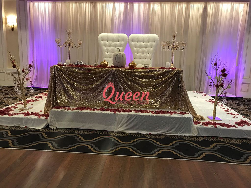 Table Decor Amp Chair Covers Queen Wedding Decor