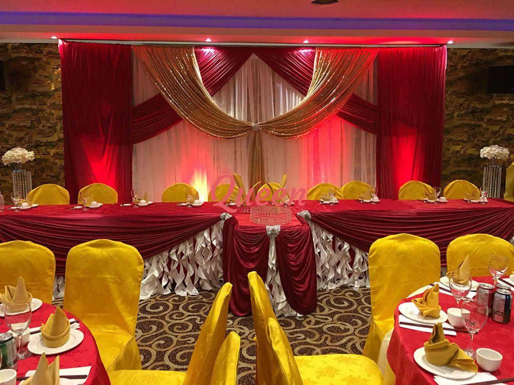 Reception decor backdrop queen wedding
